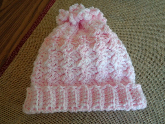"""Pink Baby""""s Hat"""