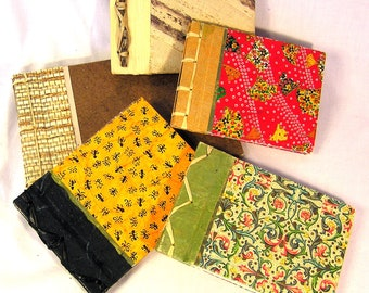 """Handmade Japanese-style Side-binding Journals and Albums - Small size 5.5"""" h x 8.5"""" w"""