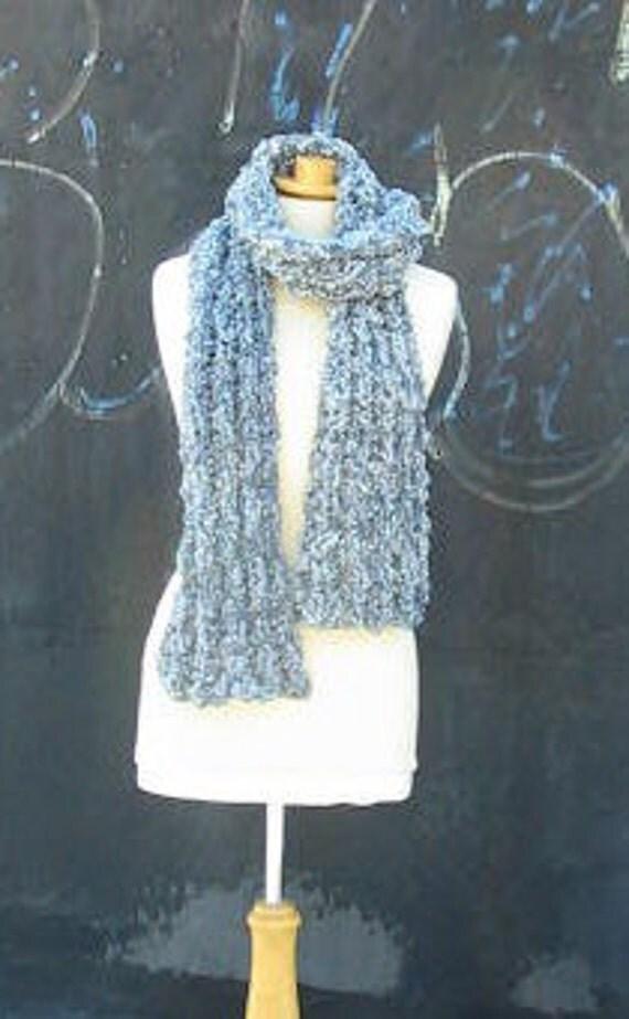 Grey Woolspun  Winter Scarf