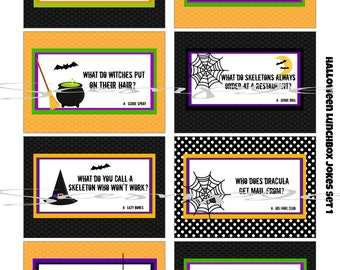 instant download halloween school lunch box jokes 8 printable lunchbox notes images for