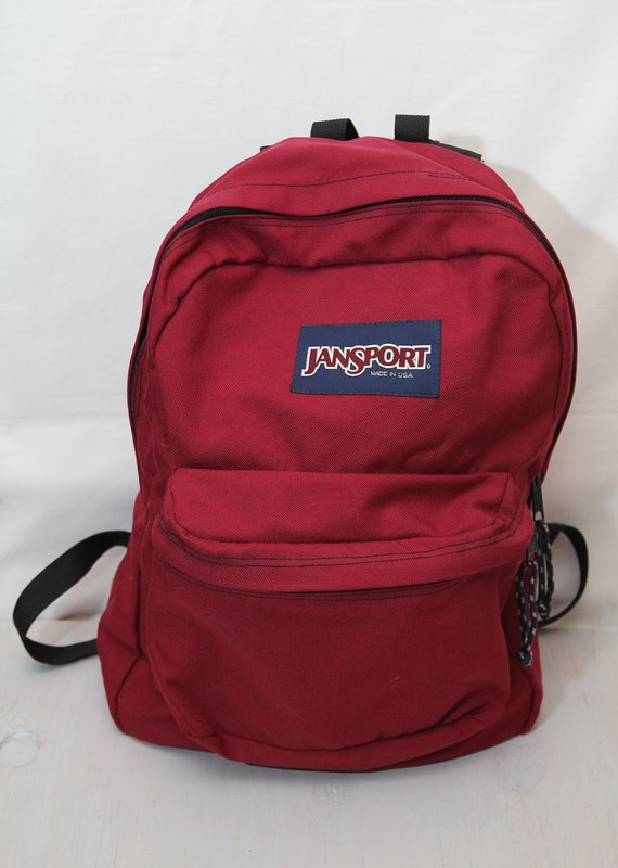 Vintage Jansport Backpack Red 1990s Made In USA