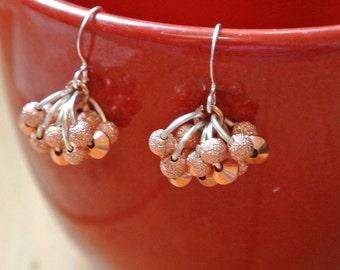 Stardust Copper Cluster Earrings