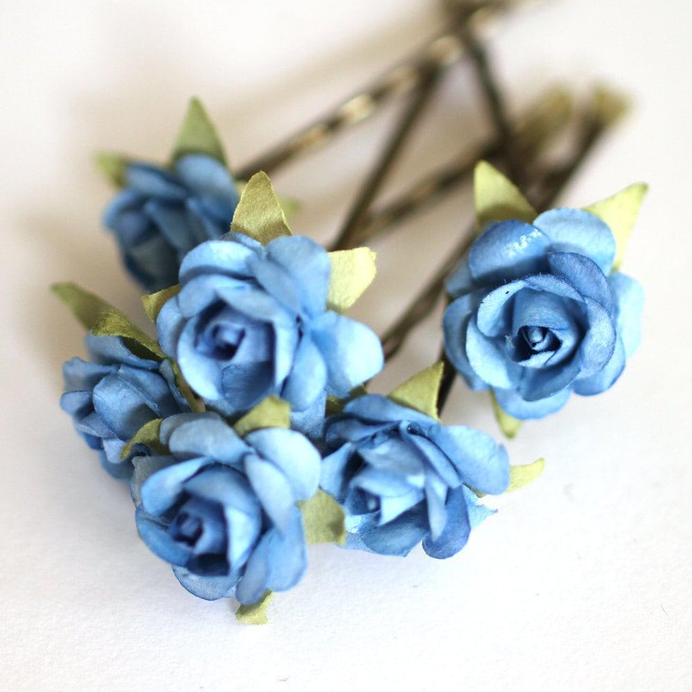Blue Sky Rose Bridal Hair Accessories Bohemian By