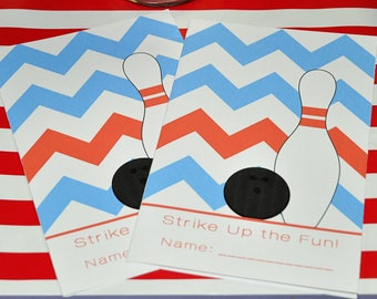Bowling Party Activity Book Digital Printable