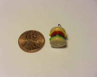 Cheese Burger Polymer Clay Charm