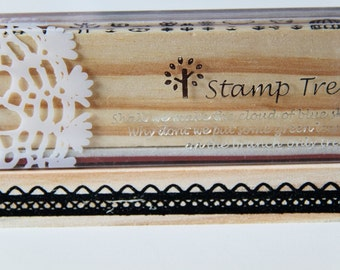 1 Wooden Rubber Stamp- Lace. Border. Patterns - Scrapbooking. Cardmaking. Tag Making. Stamping