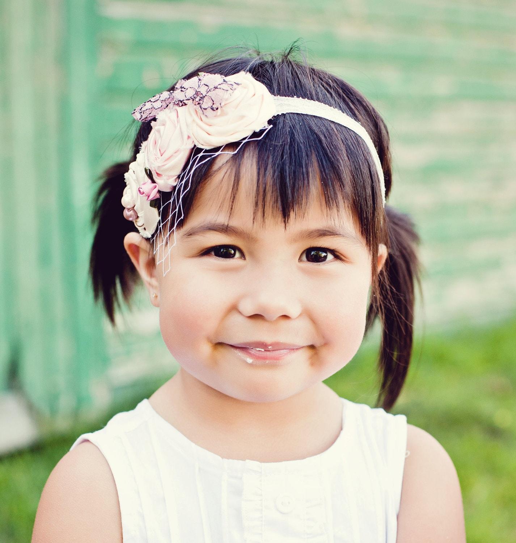 Items similar to Ivory Flower Girl Wedding Hair Piece Wedding Hair Accessory