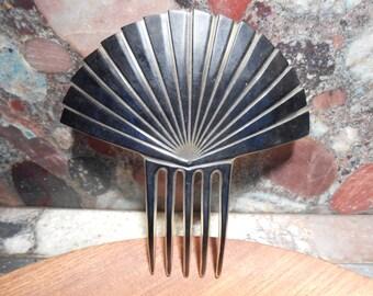 Vintage Art Deco Celluloid Fan Hair comb