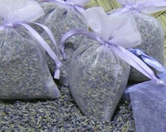 25 HIGHEST FRAGRANCE Organic Lavender Sachet Wedding Favor Biodegradable Bridal Shower Bulk // White Ivory Purple Pink Blue Gold Gray Green