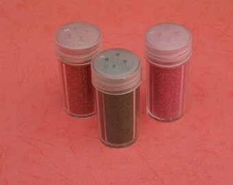 3 Glitter Powder bottles  - choose your color