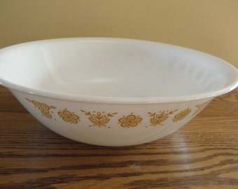 Butterfly Gold Serving Bowl