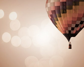 Hot Air Balloon Photography Print 11x14 Fine Art New Mexico Enchanted Whimsical Nursery Landscape Photography Print.