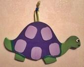 Hand Painted Hanging Turtle Nursery or Wall Art