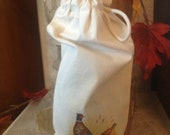 Wine/ Gift Bag in 100% Natural Cotton Fabric
