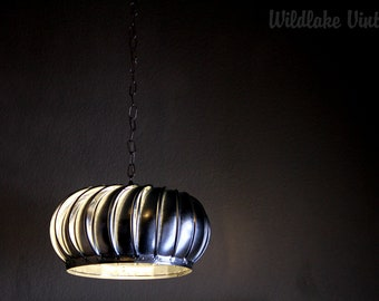 Industrial Turbine Light Fixture