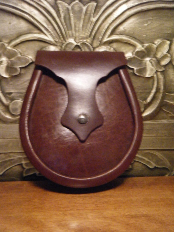 Handmade Brown Leather Ness Sporran