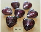 Italian Murano Glass Hearts - Lot of 29 Beads