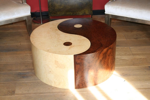 Items similar to yin yang coffee table on etsy for Table yin yang basse