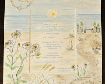 Wedding Invitation Keepsake, custom artwork ready to frame