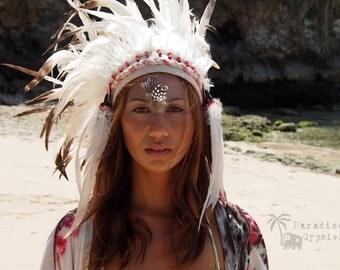 White Feather Crown Headdress