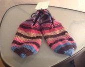 Knitted slippers in fun colours - Woman