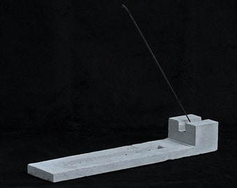 Cement Incense Burner, Block design