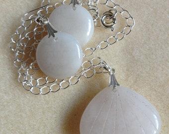 Aventurine Jewellery Set - Genuine Gemstone - Necklace and Earrings