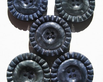 Vintage grey/blue buttons