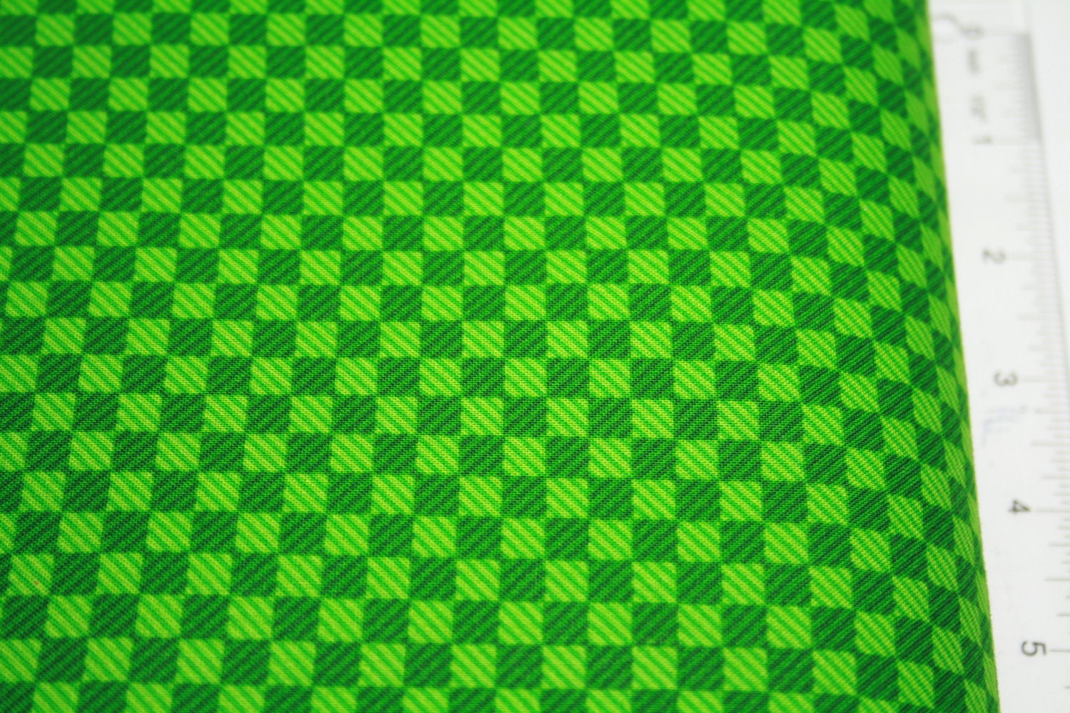 Green checkerboard by choice for Minecraft fabric by the yard