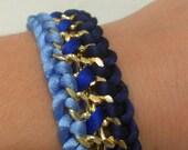 Blue chain bracelet