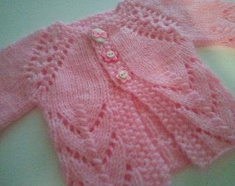 PDF Knitting Pattern--My Fischschwanz Newborn Sweater
