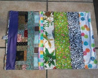 "Multi-Color ""Scrappy"" Strip Placemats (Sold in pairs)"