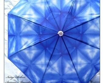 IN STOCK Unisex Fashion Art  Rain Umbrella Classic Indigo Shibori
