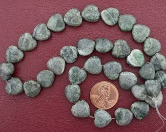 12mm heart gemstone old jade beads