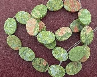 18x13 oval gemstone unakite beads