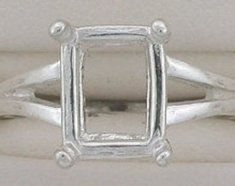 sterling silver 9x7 octagon ring mounting size 6