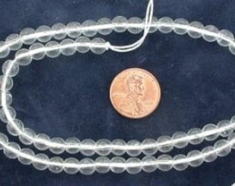 6mm round gemstone crystal quartz beads