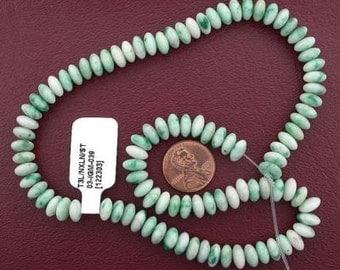 "8mm rondelle gemstone jade beads 15"" strand"