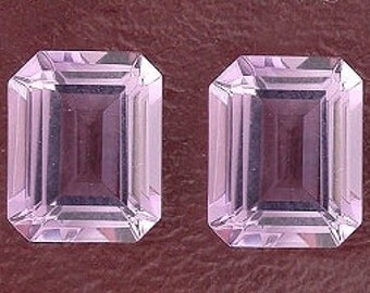 one 10x8 emerald cut amethyst gem stone gemstone