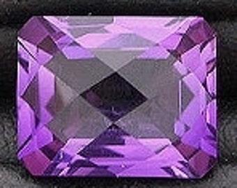 10x8 rich purple amethyst color checkerboard  quartz