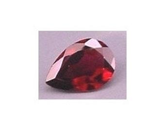 9x6 pear garnet faceted gem stone gemstone natural