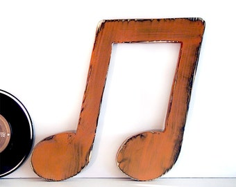 Music Note Decor Rustic Music Note Cut Out Music Wood Sign Wall Decor Rustic Chic Music Room Decor Photo Prop