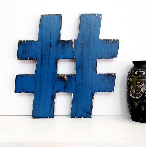 Hashtag Wall Decor rustieke pond Sign Office Decor Wall Decor rustieke Americana Trendy sociale Media hekje