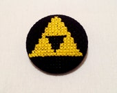 Triforce Pin -Legend of Zelda, Geek Pinback Button, Nintendo Badge, Nerdy Video Game Gift