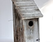 Large Weathered Old Primitive Birdhouse