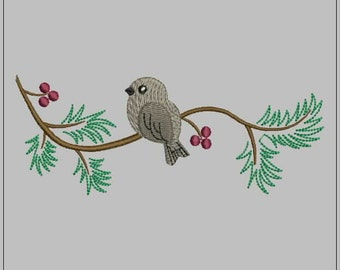 Bird. Embroidery design. Design for embroidery machine. All formats.