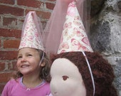 Waldorf Doll Clothes - Princess Hat  - Stocking Stuffer & Ready to Ship