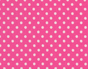 Fat Quarter Hot Pink/ White Dot from RJR Fabrics Crazy for Dots & Stripes
