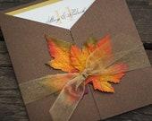Fall Wedding Invitation - Custom Sample
