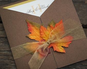 50 Fall Wedding Invitation
